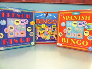 eeBoo's BINGO games (ages 5+) turn this familiar game into a fantastic learning tool. Brush up on your Spanish, French, or US geography by yourself or with friends!